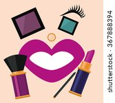 cosmetic set  cosmetic set is... | Shutterstock .eps vector #367888394