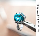desktop jeweler. silver ring on ... | Shutterstock . vector #367896236