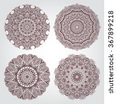 set mandalas. round ornament... | Shutterstock .eps vector #367899218