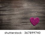 Pink Heart On A Gray Wood...