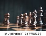 chess pieces on the board.... | Shutterstock . vector #367900199