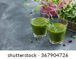 fresh green juice in the glass...   Shutterstock . vector #367904726