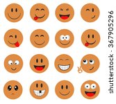 emoticons. smileys icons set.... | Shutterstock .eps vector #367905296