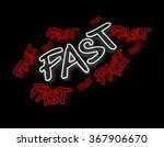 fast neon sign isolated on... | Shutterstock . vector #367906670