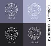 vector set of abstract jewelry... | Shutterstock .eps vector #367908944