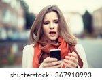 sms. closeup portrait funny... | Shutterstock . vector #367910993