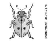 Zentangle Stylized Gray Bug...