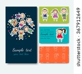 business cards collection ... | Shutterstock .eps vector #367912649