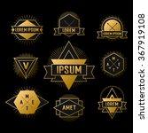 gold hipster geometric logo on... | Shutterstock .eps vector #367919108