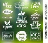 vector eco  organic  bio logos. ... | Shutterstock .eps vector #367920680