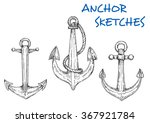 Nautical Sketch Of Old Ship...