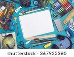 Mockup image with blank sketchbook