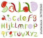 vegetable and salad vector... | Shutterstock .eps vector #367928360