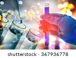 double exposure of scientist... | Shutterstock . vector #367936778