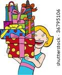 gift stack   Shutterstock .eps vector #36795106