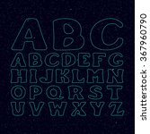 star font vector. alphabet set. ... | Shutterstock . vector #367960790