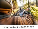 man seat on the motorcycle on... | Shutterstock . vector #367961828