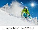 skier skiing downhill during... | Shutterstock . vector #367961873
