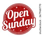 Open Sunday Grunge Rubber Stam...
