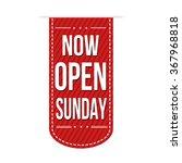 now open sunday banner design... | Shutterstock .eps vector #367968818