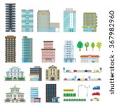 various buildings | Shutterstock .eps vector #367982960