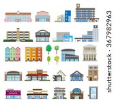 various buildings | Shutterstock .eps vector #367982963