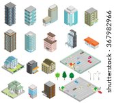 various isometric buildings ... | Shutterstock .eps vector #367982966