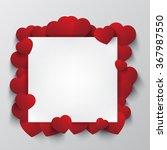 heart shape around paper card | Shutterstock .eps vector #367987550