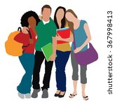 students illustration 1 | Shutterstock .eps vector #367998413