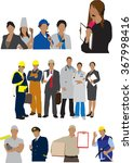 professions | Shutterstock .eps vector #367998416