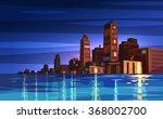 vector beautiful night cartoon... | Shutterstock .eps vector #368002700