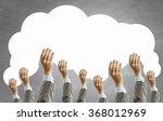 cloud and teamwork concept | Shutterstock . vector #368012969