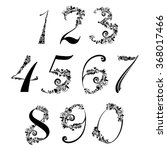 number set with hearts. vector... | Shutterstock .eps vector #368017466