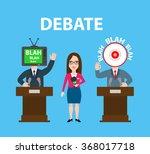 debate two speakers politicians ... | Shutterstock .eps vector #368017718