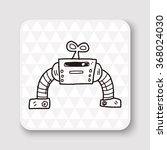 robot doodle | Shutterstock .eps vector #368024030