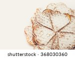 waffle heart shaped dusted with ...