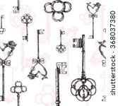 vintage keys. seamless pattern. ... | Shutterstock .eps vector #368037380