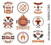 barbecue and grill labels ... | Shutterstock .eps vector #368041280