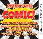 Comic Retro Alphabet Set. Red...