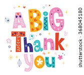 a big thank you greeting card   Shutterstock .eps vector #368045180