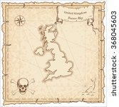 old pirate map of united... | Shutterstock .eps vector #368045603