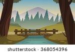 small wooden bridge  | Shutterstock .eps vector #368054396