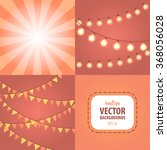 party   celebration lights and...   Shutterstock .eps vector #368056028