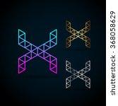 letter x vector origami logo... | Shutterstock .eps vector #368058629
