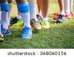 Young Boys Leg With Football...