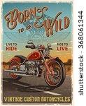 Постер, плакат: Vintage motorcycle poster Motorcycle