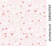 cute doodle seamless pattern... | Shutterstock .eps vector #368063969
