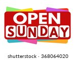 Open Sunday  Banner Or Label...