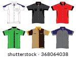 uniform shirt design | Shutterstock .eps vector #368064038
