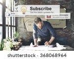 subscribe follow subscription... | Shutterstock . vector #368068964